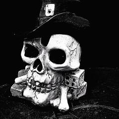 (jasonfinnparlo) Tags: blackandwhite bw jason photography skull photo blackwhite flickr foto efeito fotografia ios effect pretoebranco caveira app cinzeiro iphone cranio iphoneography instagram