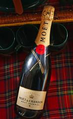 liquid lunch (tracymaureensiobhan) Tags: bottle picnic champagne sony alcohol tartan fizz moetchandon brut moet plonk picnicbasket sonyalpha