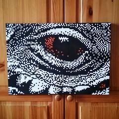 Another eye || Another vision 1/4 Handmade canvas  35x50cm (.krayon) Tags: streetart color macro eye art artwork artist acrylic handmade optical style canvas pixel pixelart crocodile custom limited edition uniposca krayon