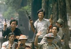 Fall of Saigon 1975 (manhhai) Tags: vietnam saigon armed offensive|military slide|horizontal|color clothing|military garment|military conflict|vietnamese|color uniform|victory|victory asia|the photo|color|vietnam seventies|firearm|army|military operation|dress|uniform|armament|arms|asian|communism|group|war|