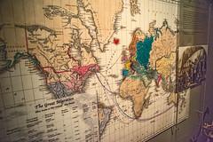 Waipu Museum Migration Map (fotofrysk) Tags: newzealand display map northisland migration northland scottishpeople waipu heritagemuseum nikond7100 201411112910 waipumuseum capebretonmuseum