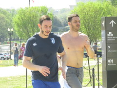 IMG_0648 (FOTOSinDC) Tags: shirtless man men muscles muscle candid handsome running sweaty sweat shorts jogging runner tee jogger