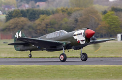 P-40 Warhawk (Bernie Condon) Tags: uk plane vintage flying fighter aircraft aviation military airshow ww2 preserved bomber oxfordshire abingdon kittyhawk curtis warplane tomahawk airdisplay p40 2016 warhawk usaaf