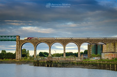 Enterprise on the Boyne Viaduct (mythicalireland) Tags: ireland sky dublin irish train river evening railway belfast viaduct enterprise irishrail intercity drogheda boyne southbound