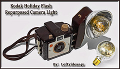 Steampunk Upcycled Kodak Brownie Holiday Flash Silver Mercury Light Bulb Re-purposed into a Brown Camera Table Lamp Light by Loftyideas4u (https://www.facebook.com/loftyideas4u) Tags: camera light brown holiday lamp bulb silver table ebay mercury kodak sale flash hipster brownie etsy facebook repurposed steampunk upcycled instagram loftyideas4u