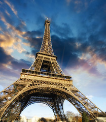 (bla_lab) Tags: city travel blue sky people urban cloud sunlight holiday paris france building green tower history tourism monument beautiful beauty grass metal horizontal architecture wonder french landscape outdoors daylight iron europe arch tour steel postcard famous capital sightseeing central scenic landmark eiffel visit icon historic romantic length majestic cloudscape attraction monumental