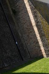 """ombre, mura e prato #morrodalba #italy #clod #giornatedifotografia #sensi #enricoprada #canon #ombre #shadows #centrostorico #mura #nature (claudio """"clod"""" giuliani) Tags: italy canon clod sensi morrodalba giornatedifotografia"""
