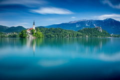 Dreaming on lake Bled (lloydich) Tags: lake water big long exposure dream calm dreaming slovenia lee bled stopper skycouds bigstopper