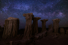 Tufa Treasure Trove (Eric Gail: AdventuresInFineArtPhotography) Tags: purple ericgail 21studios canon canon70d 70d explore interesting interestingness photoshop lightroom nik software landscape nature infocus adjust california photo photographer ca cs6 topazlabs picture monolake tufa milky way