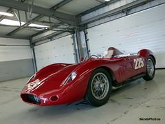 Maserati 250S (BenGPhotos) Tags: red classic sports car club race start vintage spring garage pit racing silverstone richard wilson motor circuit maserati motorsport vscc autosport 2016 itailian 250s esl315