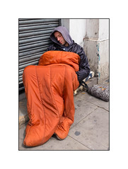Homeless Man, East London, England. (Joseph O'Malley64) Tags: uk greatbritain england london britain invisible homeless british destitute eastlondon ignored bereft unsupported