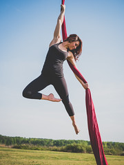 Fly (Vincent-F-Tsai) Tags: girl beauty yoga air aerial panasonic fitness graceful fit acrobatic silks lumixg7 sigma30mmf14dcdn