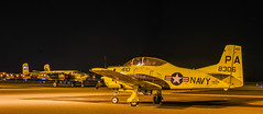 navy pa8306 panorama (pbo31) Tags: california panorama black color yellow night plane spring airport nikon war tour aviation military may large panoramic historic apron airshow bayarea eastbay livermore stitched municipal alamedacounty wwll 2016 collingsfoundation wingsoffreedom boury pbo31 d810