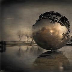 #La Palla di Pomodoro (graceindirain) Tags: world italy sculpture ball arte sphere pesaro marche pomodoro scultura