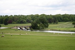 Weir (My photos live here) Tags: trees england home grass canon river eos hall derbyshire lawn national trust derby weir stately curzon kedleston 1000d