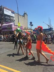 Coney Island Mermaid Parade (Cait_Stewart) Tags: nyc newyorkcity newyork coneyisland island seahorse shrimp parade squid octopus lobster mermaid coney mermaidparade iphone coneyislandmermaidparade