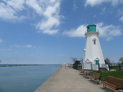 Inner Range Lighthouse, Port Dalhousie ON   (1898) (cohodas208c) Tags: lighthouse pier bluesky stcatharines lakeontario channel portdalhousie wellandcanal