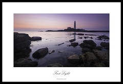 First Light (Mike Palmer Fauxtography. Mainly OFF) Tags: st marys lighthouse national trust tyne wear seascape landscape sea tide cloud rock lee filters nd grad graduated polariser canon eos 7d north east england long exposure le efs1022mm f3545 usm