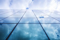 Glass building (Misc) (hypesol) Tags: new city blue windows light sky urban reflection building glass wall architecture modern clouds outside grid mirror design office construction day pattern outdoor perspective structure
