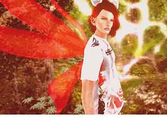 Telrunya (niki wirefly) Tags: male landscape wings sl fairy fantasy secondlife fairey niki fae