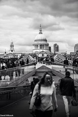 St Paul's Cathedral across the Millennium Bridge, London May 2016 (DavidTWilcock) Tags: england london unitedkingdom millenniumbridge british stpaulscathedral riverthames londonskyline