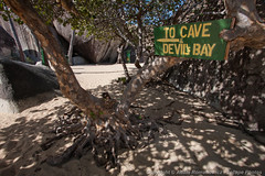 The Baths - trail to cave and Devils Bay (3scapePhotos) Tags: travel sea vacation beach sign island islands bay devils virgin trail baths beaches tropical british gorda caribbean cave tropics bvi britishvirginislands virgingorda