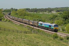 06-06-2016 66711 Sence @ High Burnigill (steveporrett) Tags: high durham north coal loaded blyth drax sence gbrf 66711 burnigill 6h89 06062016