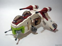 Republic Gunship (Takamichi Irie) Tags: 2 ball star ship republic lego attack clones obi padme anakin wars trans wan episode gunship mixels