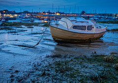 Da ja vu Shoreham Harbour (Dave Sexton) Tags: shorehambysea england unitedkingdom gb shoreham west sussex adur uk twighlight bluehour boat low tide pentax k1 samyang 35mm f14