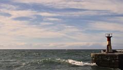 Lighthouse 2 (Jean-Loic D) Tags: ocean blue light sea sky cloud mer lighthouse nature southafrica nikon lumire bleu ciel nuage phare ocan afriquedusud