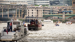 The city on the Thames (OR_U) Tags: uk people london thames river boats widescreen bridges oru 169 riverthames tonybennett flotilla 2016 iwantmycountryback thequeensofficialbirthday