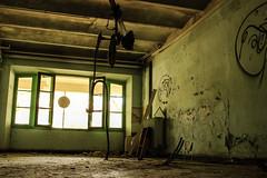 IMG_5102 (lolamoreau1) Tags: green window room machinery walls