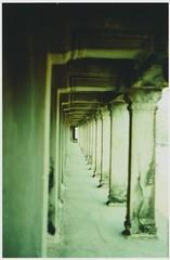Temple Hallways (kawehna) Tags: travel 35mm temple cambodia southeastasia pentax k1000 adventure siemreap angkor wat fujichrome expiredfilm filmphotography c41process filmisnotdead colorreversal filmoverdigital staypoorshootfilm