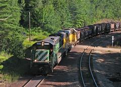 Afternoon at EM JCT (GLC 392) Tags: road railroad trees lake 3 mi train iron eagle michigan superior rail railway rr junction ge mills ore helm jennies tilden leasing 3008 pellets lsi emd ishpeming negaunee sd60 5968 hlcx u30c