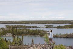 (Camusi) Tags: blue camping summer lake fish canada water islands north nwt canoe bleu trout northwestterritories t poisson tno hiddenlake nord yellowknife pche northof60 ingrahamtrail truite lachidden