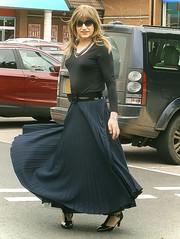 Mall Shopping (Amber :-)) Tags: log navy skirt crossdressing tgirl transvestite sunray pleated