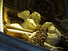 Worship (Adventures of KM&G-Morris) Tags: travel vacation italy rome art angel golden worship glory basilica rich cherub statuary cherubim