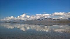 Cuil Bay (pinkpebbleperson) Tags: reflection water dawn scotland spring argyll glencoe loch cuilbay