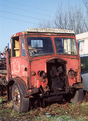 Albion lorry 'Glenavon Trading & Supply Co' - Doune Yard . Mar'83. (David Christie 14) Tags: lorry scrapyard albion doune