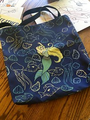 New print all over totes in my zazzle shop (LacyChenault) Tags: ocean shells art shell mermaids mermaid tote