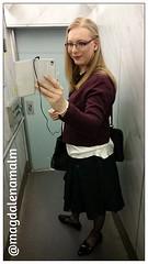 off to business meeting (magdalena_m) Tags: woman stockings glasses feminine makeup skirt swedish blouse transgender nails tranny blonde transvestite trans mtf maletofemale transgirl
