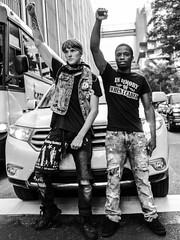 Together, We Are One (2KMILER) Tags: atlanta portrait bw black bus georgia march punk downtown protest rippedjeans caucasian peachtreest blacklivesmatter canonefs24mmf28stm canoneosrebelt6s altonsterling philandocastile