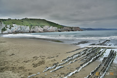 Flysch Zumaia (AuroPS) Tags: sea naturaleza beach nature mar geology playas rocas geologia flysch