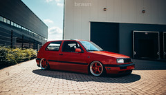 "Volkswagen Golf - 17"" ETA Beta Turbo (Rick Bruinsma) Tags: etabeta eta beta turbo twist porsche bbs rs rm lm replica lenso typ19 slammed airride air ride red rocket volkswagen golf"