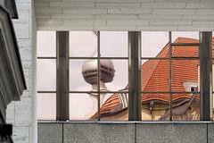 Fernsehturm (_LABEL_3) Tags: window architecture facade reflections fenster architektur fassade reflektionen spiegelungen