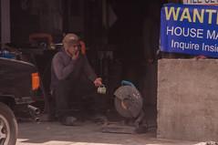 want (Pabile) Tags: street portrait people workshop rest worker metalworks