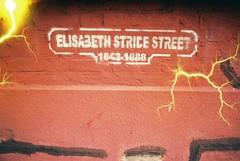 Elisabeth Stride Street (Tesla) (goodfella2459) Tags: street london history film analog 35mm lens jack effects nikon memorial special crime 200 24mm af nikkor whitechapel milf elisabeth f4 specialty ripper henriques stride c41 f28d revolog tesla1