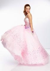 Pink Lace Up Back Strapless Beaded Corset Back Ball Gown (miyadresses2016) Tags: lacedress pinkdresses ballgown balldress stunningdress floraldress straplessdress occasiondress homecomingdrsss