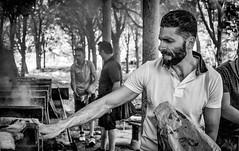Pasquale on fire! (auredeso) Tags: grigliata pasquale bn black white carne griglia fumo compleanno festa boschi