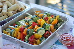 Vegetable Skewers (Merisa Lee) Tags: food vegetables outdoors yum veggie foodie skewers vegetableskewers